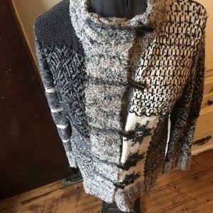 Vintage Acorn snowflake button down cardigan